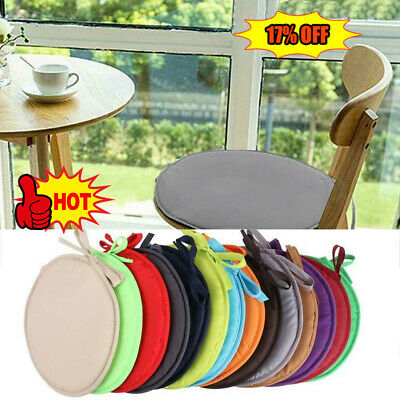 Round Bistro Circular Chair Cushion Seat Pads Kitchen Cover Removable Room New  • 2.16£