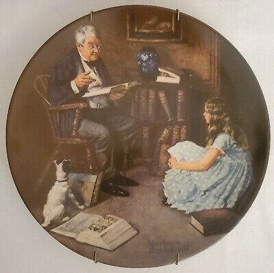 $ CDN4.91 • Buy Norman Rockwell Collector Plate In Box The Storyteller 1984 Edwin Knowles China