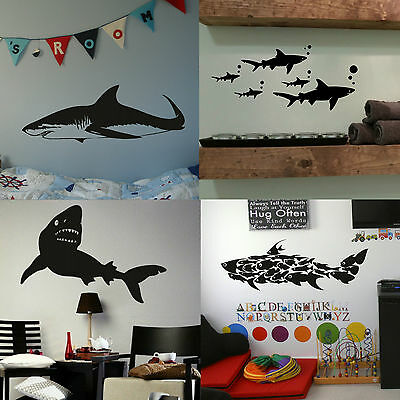 £2.99 • Buy Great White Shark Wall Stickers! Boys Home Transfer Graphic  Decal Decor Stencil