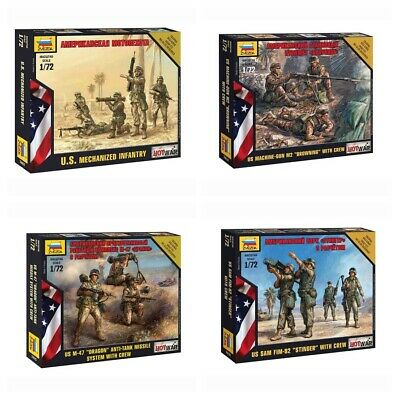 Model Kits  US Modern Soldiers & Light Weapons Hot War  Toy Figures 1:72 Zvezda • 2.39£