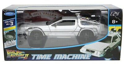£21.99 • Buy De Lorean DMC 12 Flying Version From Back To The Future In Silver 1:24 Scale