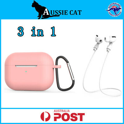 AU5.95 • Buy Apple Airpods 3/Pro Case Soft Silicone Shockproof Slim Skin Protective Cover