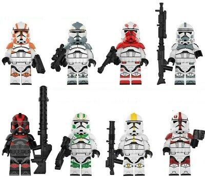 Jet Clone Troopers (set Of 8) Mini-figures. Star Wars. Lego Compatible - NEW • 12.99£