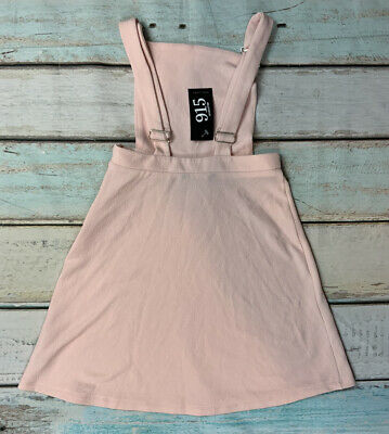 New Look Dungarees Dress Pink Age 12-13 Years BNWT • 13.99£