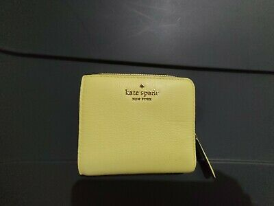 $ CDN26.17 • Buy 🌸 NWT Kate Spade Jackson Small L-zip Bifold Leather Wallet Limelight New $119