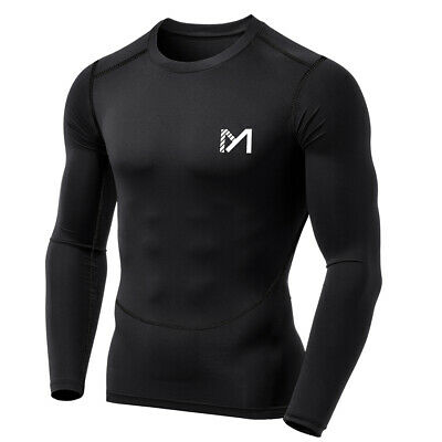 MEETYOO Base Layer Top Body Armour Compression Under Shirts Skins Gym Fit Sports • 8.99£