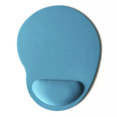 Sky Blue Comfort Wrist  Support Mat Mouse Mice Pad Computer PC Laptop Soft • 2.45£