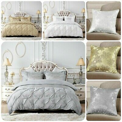 $ CDN51.12 • Buy New Luxury 3Piece Glitter Quilt Duvet Cover Set Pillow Case Double King S-K Size