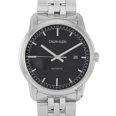 £127.27 • Buy Calvin Klein Infinite Automatic Stainless Steel Black Dial Watch K5S3414Y