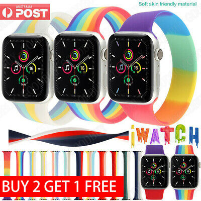 AU11.99 • Buy For Apple Watch Band Series SE 6 5 4 3 Loop Silicone Elastic Sport IWatch Strap
