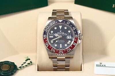 $ CDN57491.28 • Buy Unworn Rolex GMT-Master II White Gold Blue Dial Pepsi Box/Papers/Card 126719BLRO