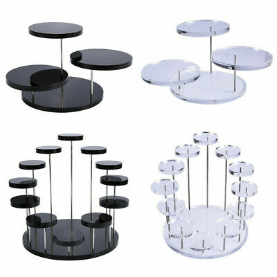 £9.99 • Buy Cupcake Stand Jewelry Cake Dessert Display Stand Acrylic Rack Holder Party Decor