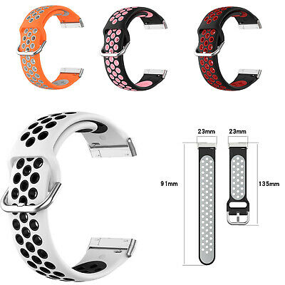 $ CDN7.42 • Buy Silicone Strap Band For Fitbit Versa 3/Fitbit Sense Sports GPS Watch Replacement
