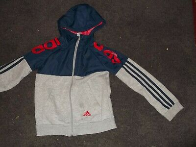 Adidas Hooded Track Top Age 7-8 • 2.90£
