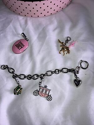 Juicy Couture  Chunky Charm Bracelet Vintage With 5 Charms • 24.95£