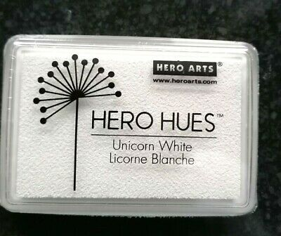 Hero Arts Hero Hues Pigment Dye Ink Pad-Unicorn, White, 3.5  X 2.5  New Unopened • 4£