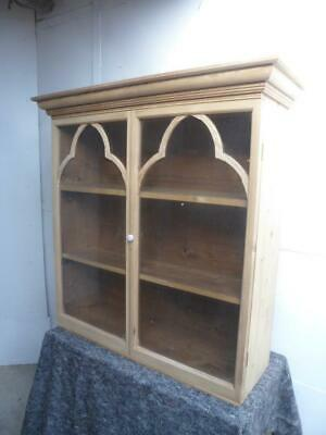 A Georgian Antique/Old Pine Wall Hanging Kitchen/Utility Cabinet To Wax/Paint • 395£