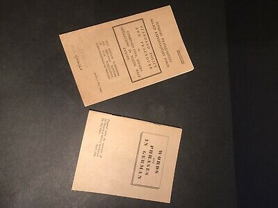 Original WW2 British Booklets 1944 Phrases In German & Officers Restricted • 8.50£