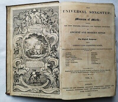 £45 • Buy Universal Songster Or Museum Of Mirth – Cruikshank - 1 Vol Only - 1825