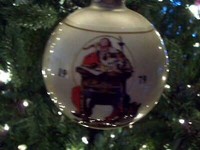 $ CDN34.04 • Buy Norman Rockwell Design Collection Christmas Ornaments (3) 1979,1980,1981