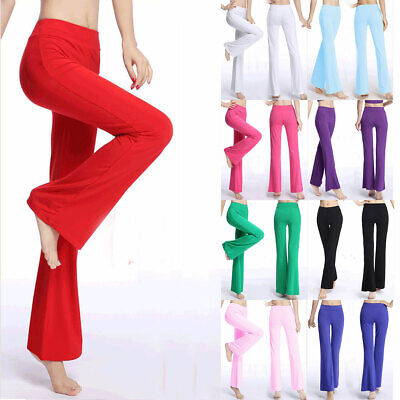 AU22.95 • Buy Women Modal Casual Gym Yoga Long Pants Sports Wide Loose Flared Leg Trousers