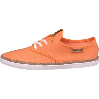 Adidas Adria PS Espradrille Women's Lace Up Canvas Trainers Orange UK Size 5.5 • 8.88£
