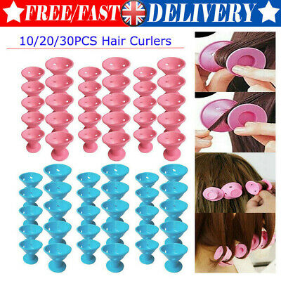 Magic Silicone Hair Curlers Rollers No Clip Former Styling Curling Waving Tools • 9.54£