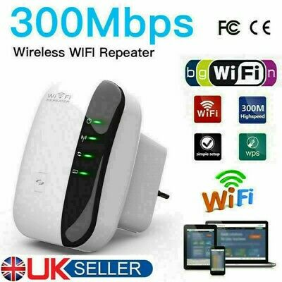 WiFi Signal Repeater Extender Range Booster Internet Network Amplifier UK*Plus • 11.99£