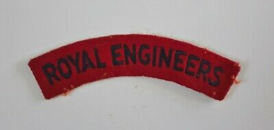 British Army Military Badge Shoulder Title WWII Royal Engineers (RE) Patch • 2.50£