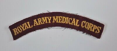 British Army Military Badge Shoulder Title WWII Royal Army Medical Corps (RAMC)  • 2.70£