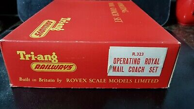 Vintage Model Railway OO Scale Triang R323 Royal Mail Coach Set - Boxed.  • 12.50£