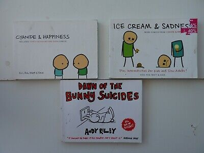 £7.85 • Buy Comics - Cyanide & Happiness; Ice Cream & Sadness; Dawn Of The Bunny Suicides