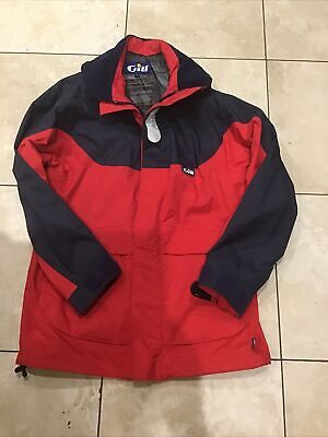 Gill Men OS3 Coastal Jacket Red And Blue Medium With Hood • 80£