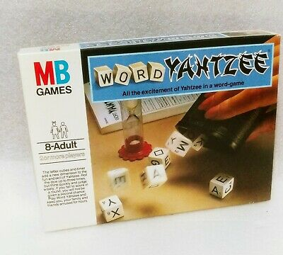YAHTZEE WORD DICE GAME MB GAMES 1979 - COMPLETE - Free Uk POST • 9.99£