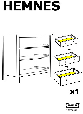 1x IKEA DRAWER BOTTOM FOR HEMNES 3 DRAWER CHEST OF DRAWERS • 14.46£