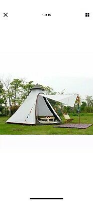 Double Layer 2 Persons Teepee Tipi Tent Yurt Family Glamping Lightweight Outdoor • 31.23£