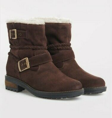 Women's Superdry Hurbis Brown Biker Boots Shoes Size 4 Brand New With Box • 49.99£