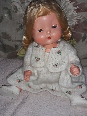 VINTAGE 1950s 10 INCH RODDY THUMBS UP HARD PLASTIC BABY DOLL  • 22£