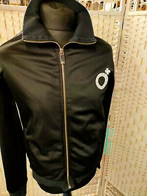 Mens Blood Brother Black Jacket Zip Up Track Top Next Casual Sz Small Big Logo • 6£