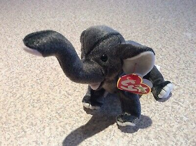 """TY RETIRED BEANIE BABY """"TRUMPET"""" The Elephant 11/02/2000 BNWT/Pristine Condition • 9£"""