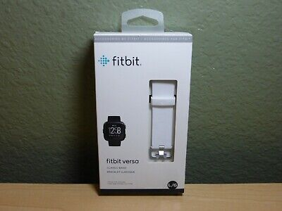 $ CDN19.60 • Buy Fitbit Versa Classic Band White Strap Large Authentic Brand New Sealed