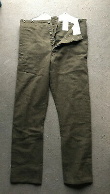 WW1-style British Army 02 Pattern Trousers, Large, Wartime Economy Version • 35£