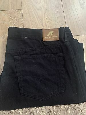 MENS LEE COOPER BLACK DENIM JEANS 38  WAIST 32  Amazing Condition • 7.50£