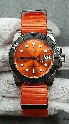 $ CDN313.60 • Buy Customised Submariner Style Divers Watch Mod Seiko Nh36 Movement Skx