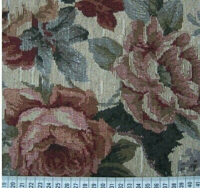 Rose Tapestry Fabric Thick Woven Cotton Polyester Furnishing Material 60 Inches • 9.99£