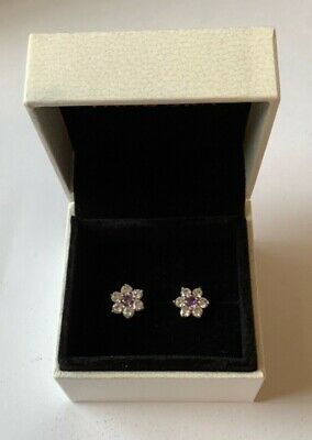 Forget Me Not Stud Earrings In Pandora Gift Box Genuine Sterling Silver S925 • 18.99£