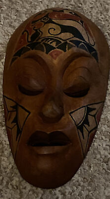 Small African Tribal Wooden Mask • 1.50£