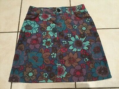 Boden Ladies Skirt Size 8 Floral Multi Cord With Button Fastening • 2£