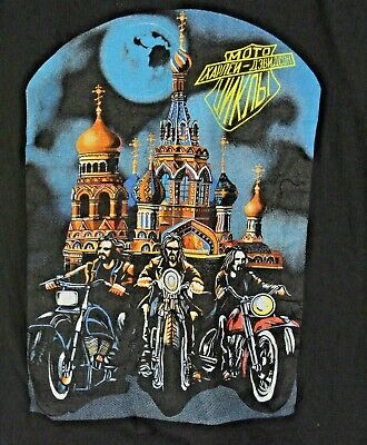 $ CDN49.60 • Buy VTG Harley Davidson Mens XL T-Shirt St Petersburg Russia Black S/S Motorcycle
