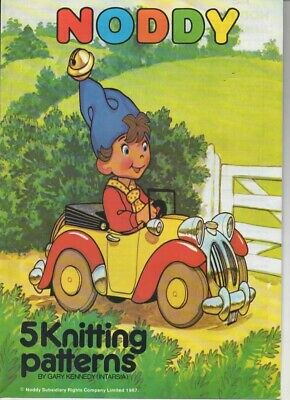 1987   Noddy  5 Knitting Patterns (INTARSIA) In 4 Ply  Sizes 24 - 44 In   • 1.10£